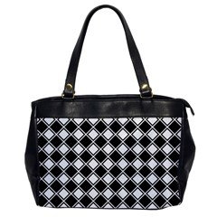 Square Diagonal Pattern Seamless Office Handbags by Celenk