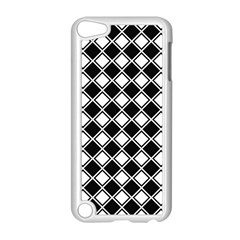 Square Diagonal Pattern Seamless Apple Ipod Touch 5 Case (white) by Celenk