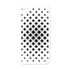 Square Pattern Monochrome Apple Iphone 4 Case (white) by Celenk