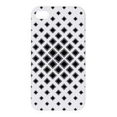 Square Pattern Monochrome Apple Iphone 4/4s Premium Hardshell Case by Celenk