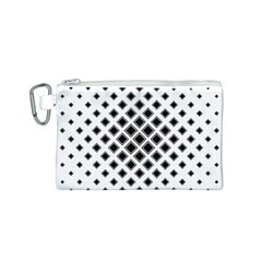Square Pattern Monochrome Canvas Cosmetic Bag (s) by Celenk