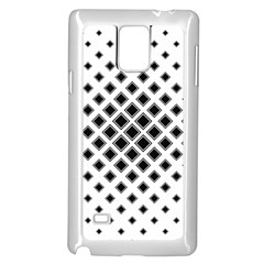 Square Pattern Monochrome Samsung Galaxy Note 4 Case (white) by Celenk