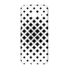 Square Pattern Monochrome Samsung Galaxy S8 Hardshell Case  by Celenk