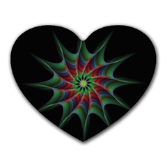 Star Abstract Burst Starburst Heart Mousepads by Celenk