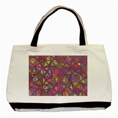 Triangle Background Abstract Basic Tote Bag by Celenk
