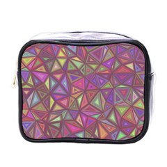 Triangle Background Abstract Mini Toiletries Bags by Celenk