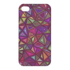 Triangle Background Abstract Apple Iphone 4/4s Premium Hardshell Case by Celenk
