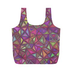 Triangle Background Abstract Full Print Recycle Bags (m)  by Celenk