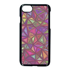 Triangle Background Abstract Apple Iphone 8 Seamless Case (black) by Celenk