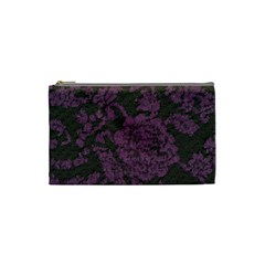 Purple Black Red Fabric Textile Cosmetic Bag (small)  by Celenk