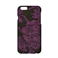 Purple Black Red Fabric Textile Apple Iphone 6/6s Hardshell Case by Celenk