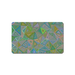 Triangle Background Abstract Magnet (name Card) by Celenk