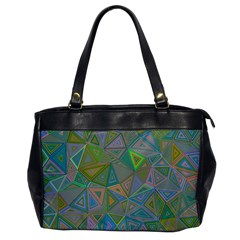 Triangle Background Abstract Office Handbags by Celenk