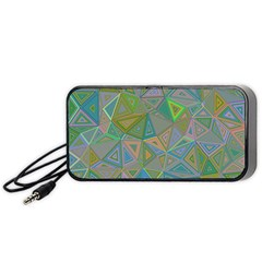 Triangle Background Abstract Portable Speaker by Celenk
