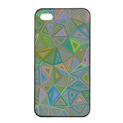 Triangle Background Abstract Apple Iphone 4/4s Seamless Case (black) by Celenk