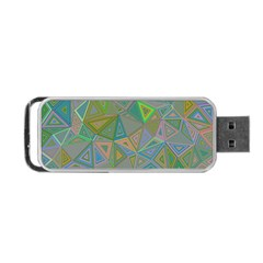 Triangle Background Abstract Portable Usb Flash (one Side) by Celenk