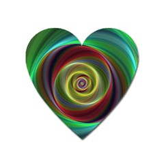 Spiral Vortex Fractal Render Swirl Heart Magnet by Celenk