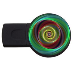 Spiral Vortex Fractal Render Swirl Usb Flash Drive Round (4 Gb) by Celenk