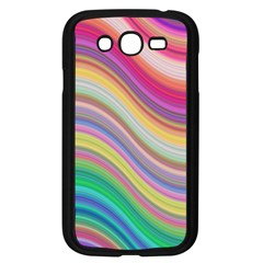 Wave Background Happy Design Samsung Galaxy Grand Duos I9082 Case (black) by Celenk