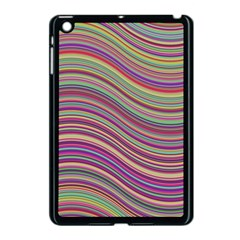 Wave Abstract Happy Background Apple Ipad Mini Case (black) by Celenk
