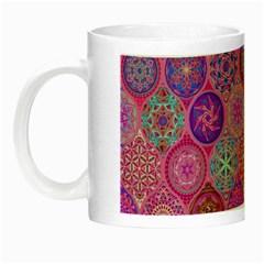 12 Geometric Hand Drawings Pattern Night Luminous Mugs by Cveti