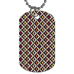 Native American Pattern 5 Dog Tag (two Sides) by Cveti