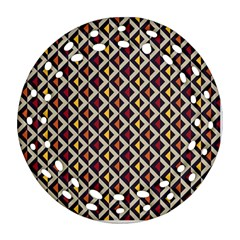 Native American Pattern 5 Ornament (round Filigree) by Cveti