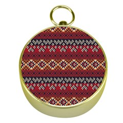 Native American Pattern 8 Gold Compasses by Cveti