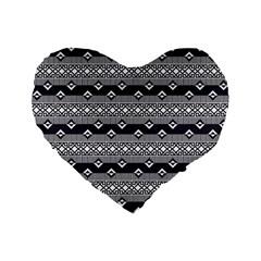 Native American Pattern 9 Standard 16  Premium Heart Shape Cushions by Cveti