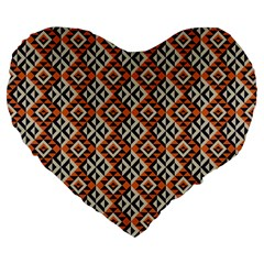 Native American Pattern 11 Large 19  Premium Heart Shape Cushions by Cveti