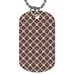 Native American Pattern 18 Dog Tag (two Sides) by Cveti