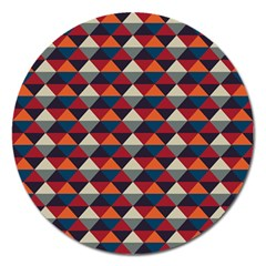 Native American Pattern 21 Magnet 5  (round) by Cveti