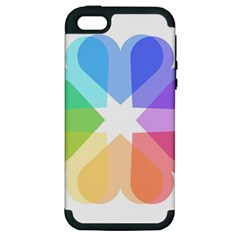 Heart Love Wedding Valentine Day Apple Iphone 5 Hardshell Case (pc+silicone) by Celenk
