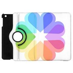 Heart Love Wedding Valentine Day Apple Ipad Mini Flip 360 Case by Celenk