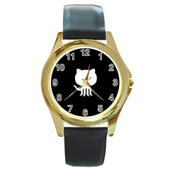 Logo Icon Github Round Gold Metal Watch by Celenk