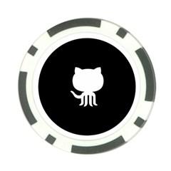 Logo Icon Github Poker Chip Card Guard by Celenk