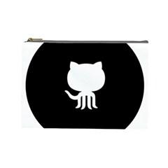 Logo Icon Github Cosmetic Bag (large)  by Celenk
