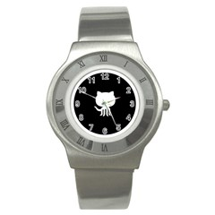 Logo Icon Github Stainless Steel Watch by Celenk