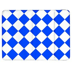 Blue White Diamonds Seamless Samsung Galaxy Tab 7  P1000 Flip Case
