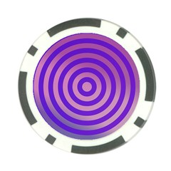 Circle Target Focus Concentric Poker Chip Card Guard by Celenk