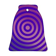 Circle Target Focus Concentric Bell Ornament (two Sides) by Celenk