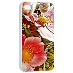 Flower Hostanamone Drawing Plant Apple Iphone 4/4s Seamless Case (white)