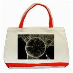 Space Universe Earth Rocket Classic Tote Bag (Red)