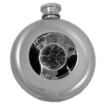 Space Universe Earth Rocket Round Hip Flask (5 oz)