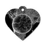 Space Universe Earth Rocket Dog Tag Heart (One Side)