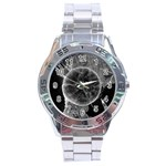 Space Universe Earth Rocket Stainless Steel Analogue Watch