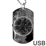 Space Universe Earth Rocket Dog Tag USB Flash (Two Sides)