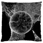 Space Universe Earth Rocket Large Flano Cushion Case (Two Sides)
