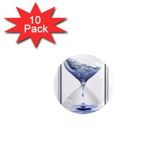 Time Water Movement Drop Of Water 1  Mini Magnet (10 Pack)  by Celenk
