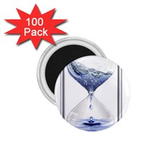 Time Water Movement Drop Of Water 1 75  Magnets (100 Pack)  by Celenk